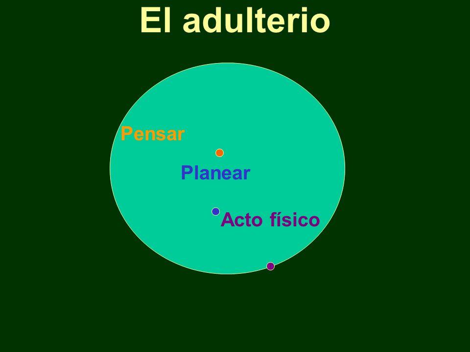 El adulterio Pensar Planear Acto físico