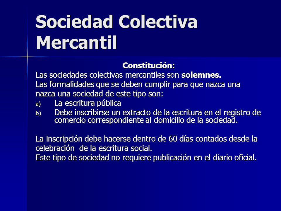 Sociedad Colectiva Mercantil
