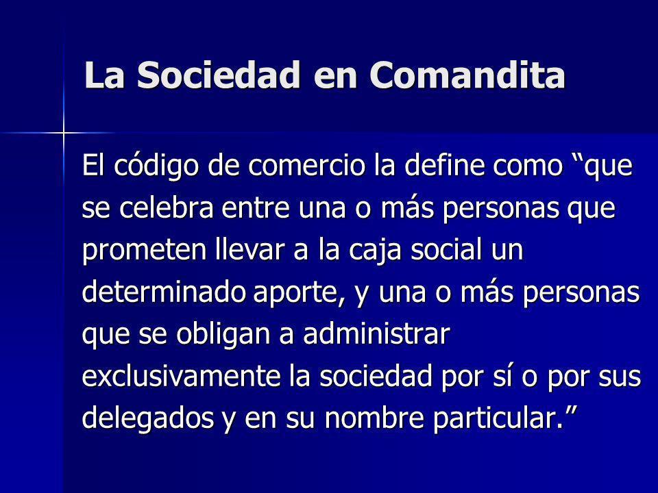 La Sociedad en Comandita