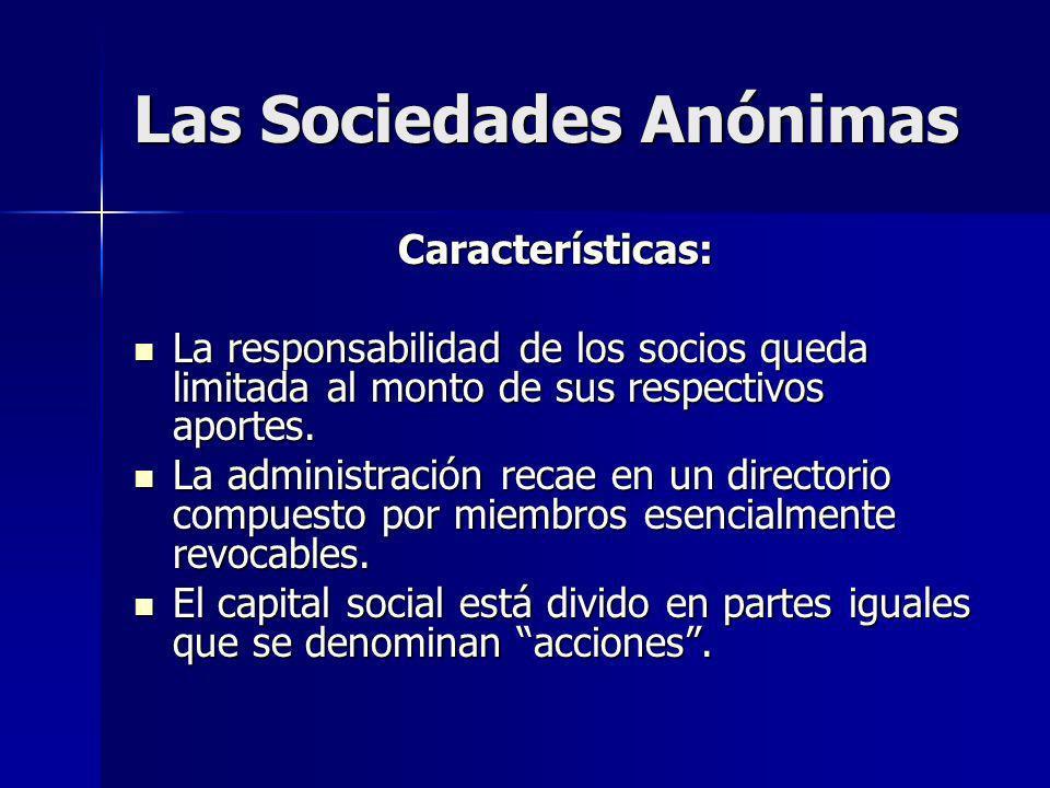 Las Sociedades Anónimas