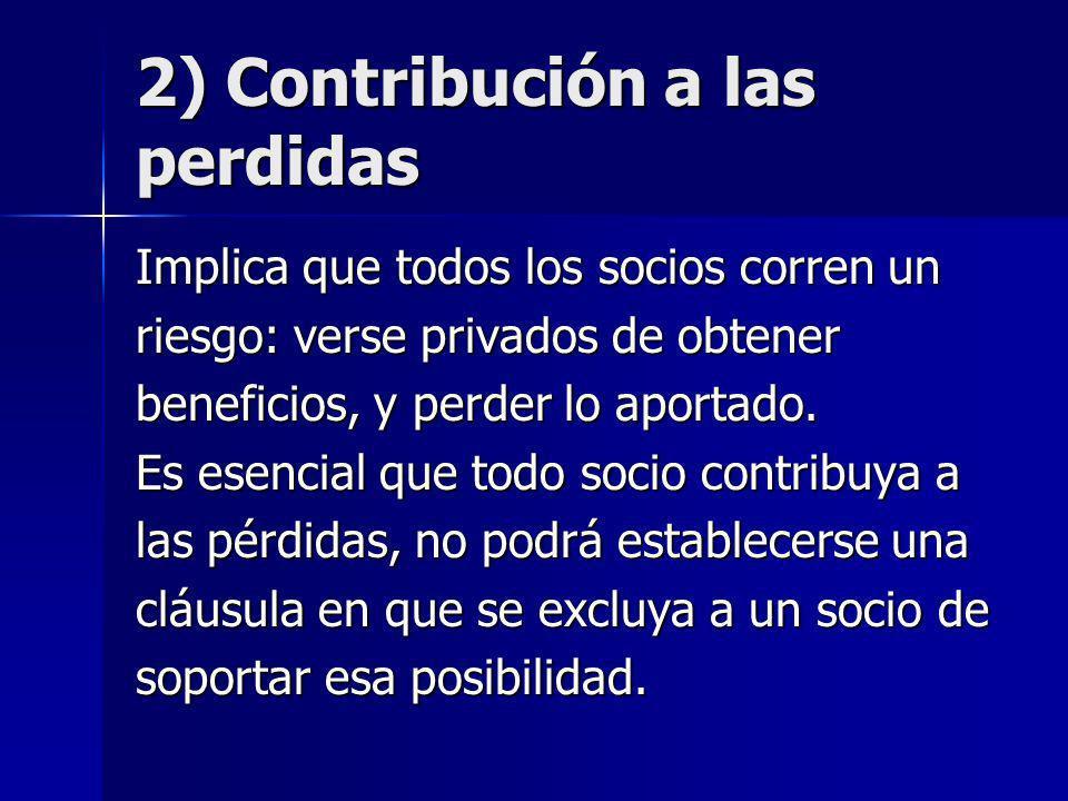 2) Contribución a las perdidas