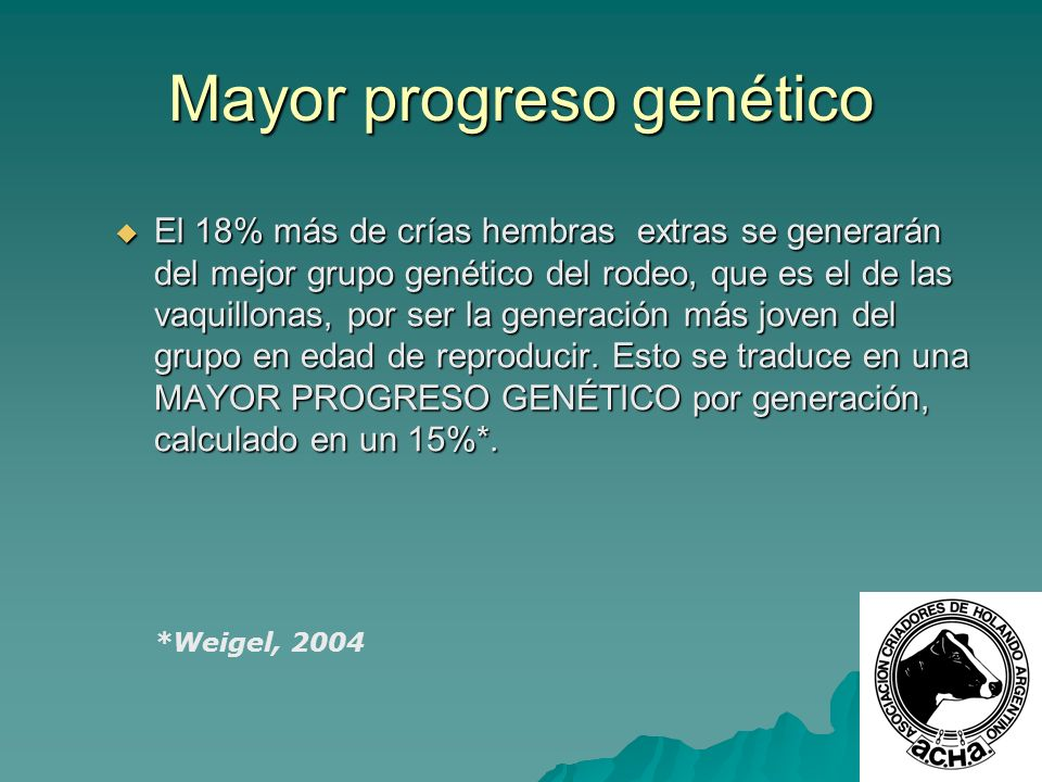 Mayor progreso genético