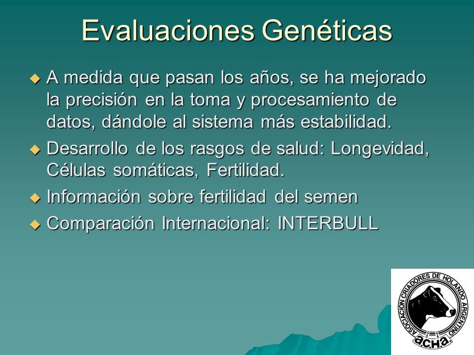 Evaluaciones Genéticas
