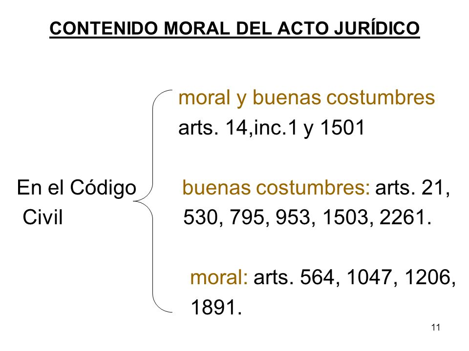 CONTENIDO MORAL DEL ACTO JURÍDICO