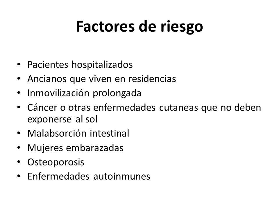 Factores de riesgo Pacientes hospitalizados