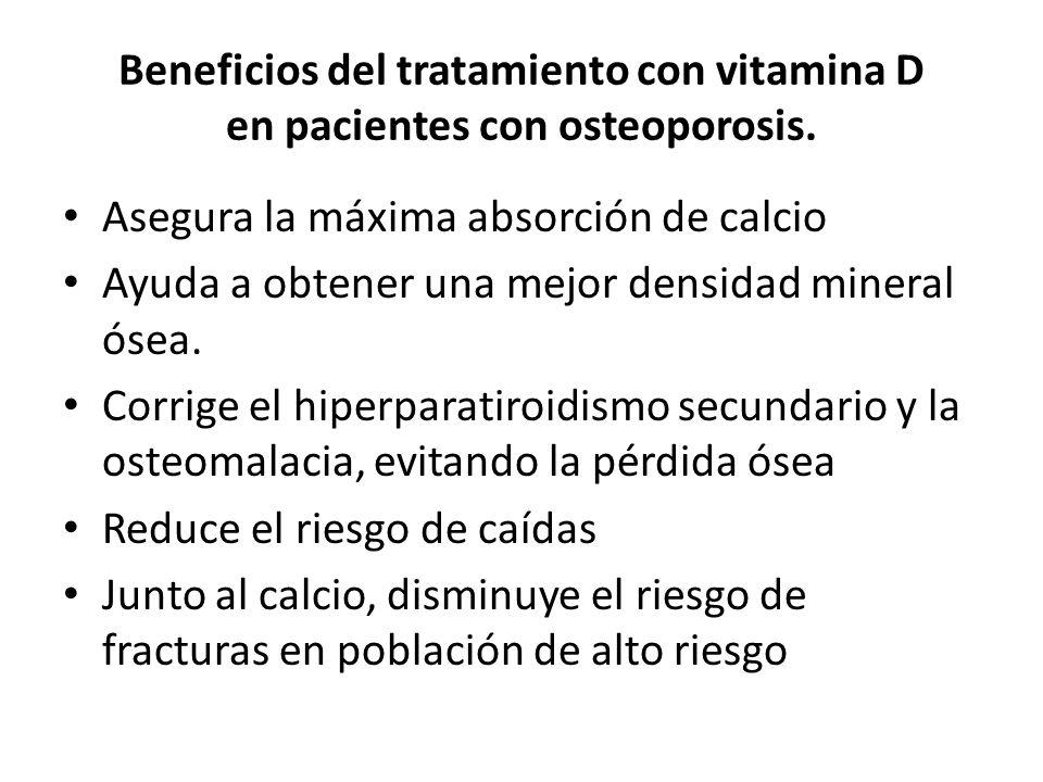 Beneficios del tratamiento con vitamina D en pacientes con osteoporosis.