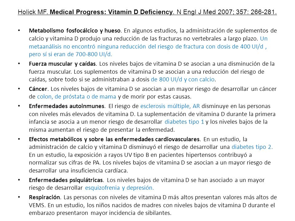 Holick MF. Medical Progress: Vitamin D Deficiency