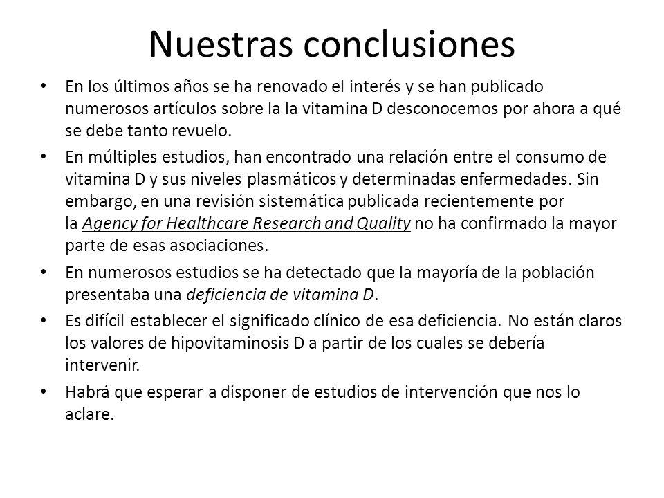 Nuestras conclusiones