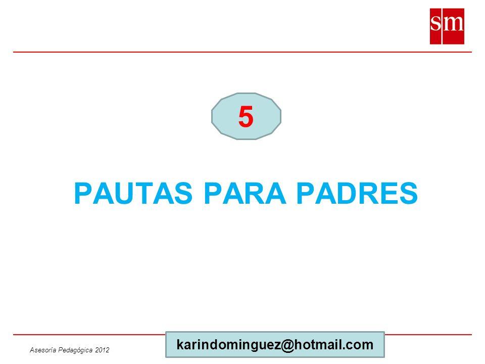 PAUTAS PARA PADRES 5 karindominguez@hotmail.com