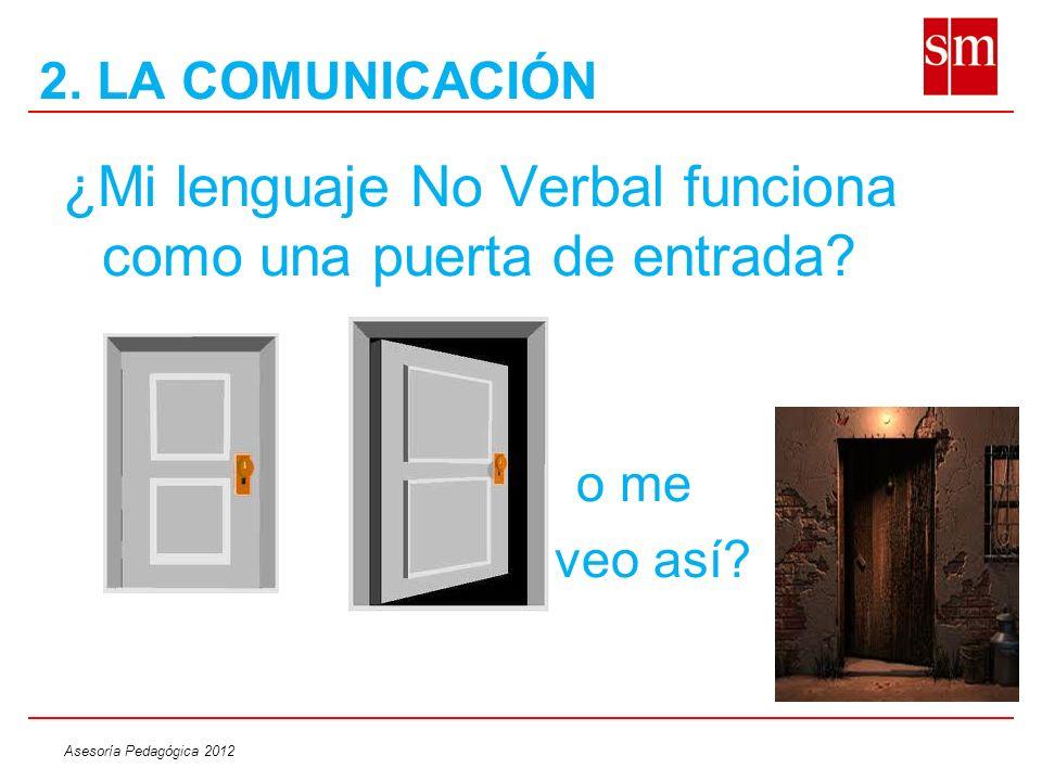 ¿Mi lenguaje No Verbal funciona como una puerta de entrada