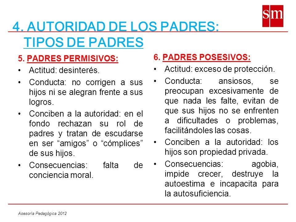 4. AUTORIDAD DE LOS PADRES: TIPOS DE PADRES