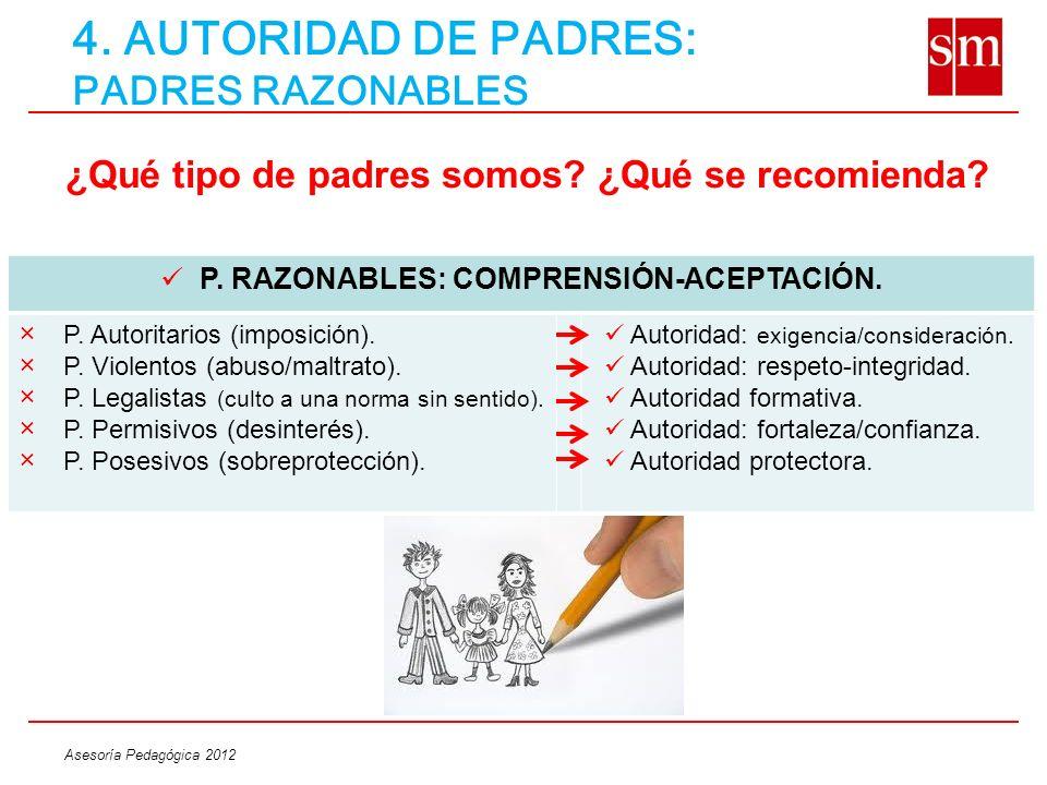 4. AUTORIDAD DE PADRES: PADRES RAZONABLES