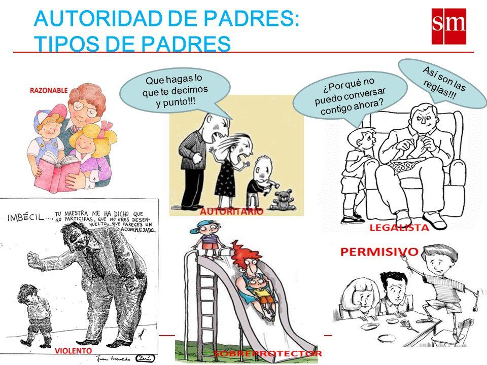 AUTORIDAD DE PADRES: TIPOS DE PADRES