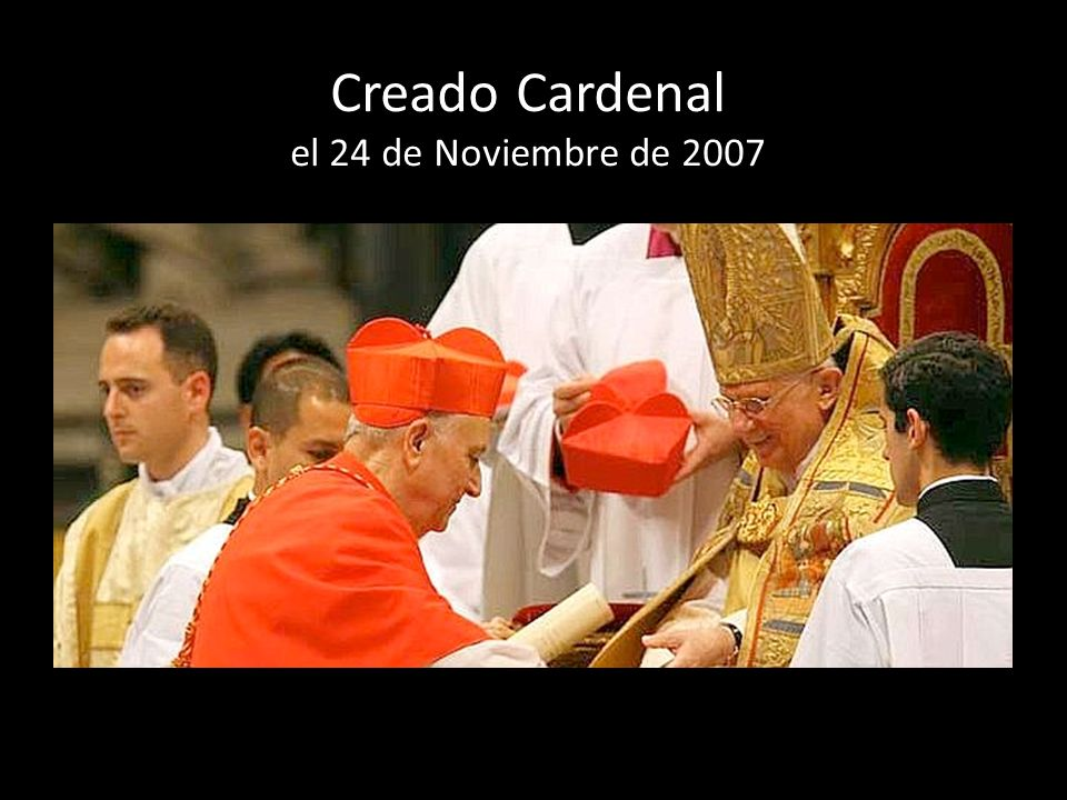 Creado Cardenal el 24 de Noviembre de 2007