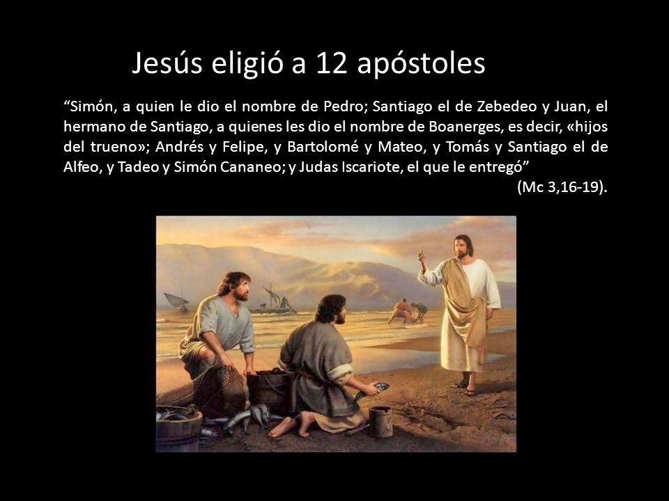 Jesús eligió a 12 apóstoles