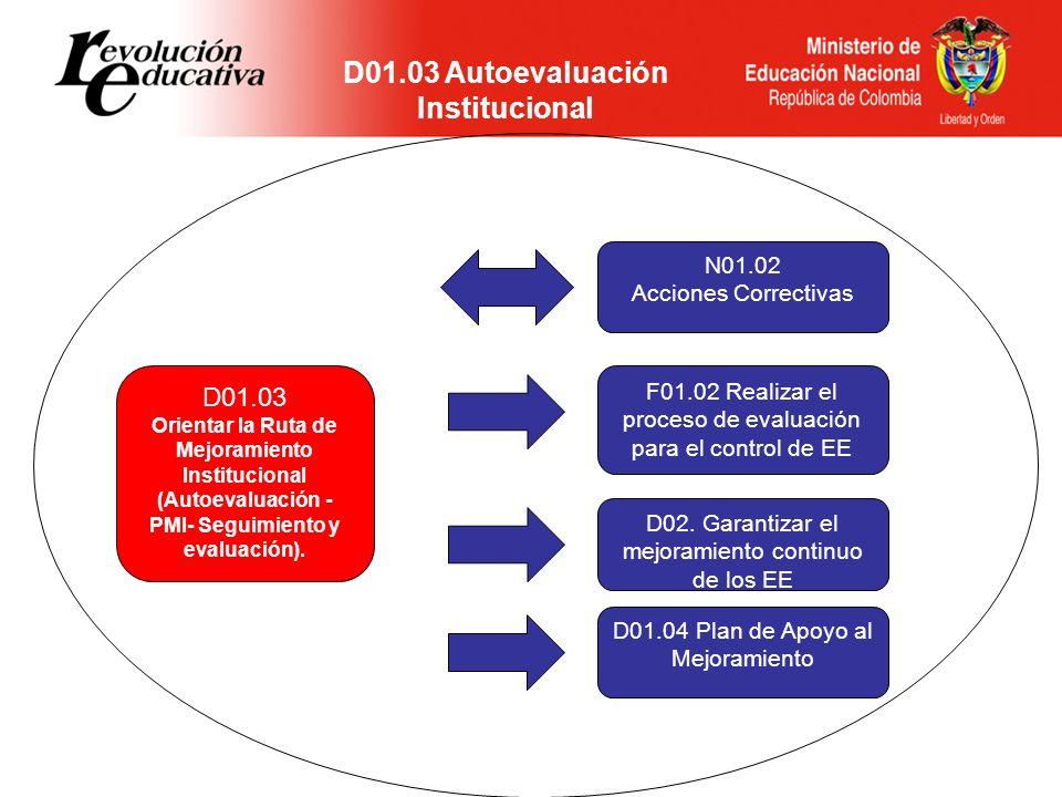D01.03 Autoevaluación Institucional