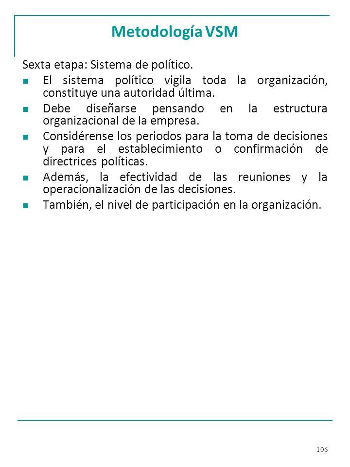 Metodología VSM Sexta etapa: Sistema de político.
