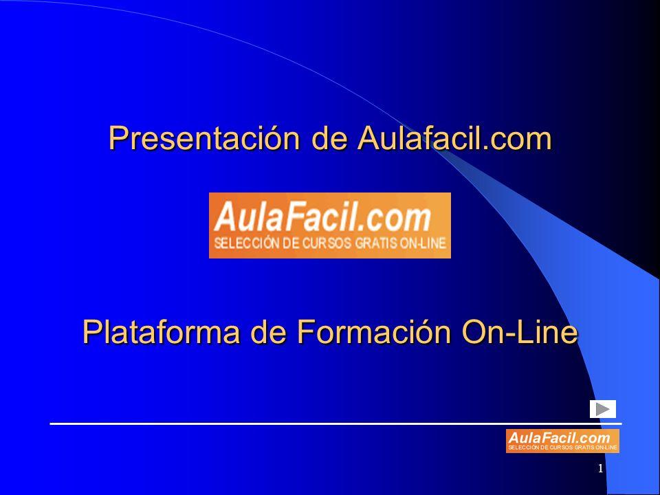 Presentación de Aulafacil.com Plataforma de Formación On-Line