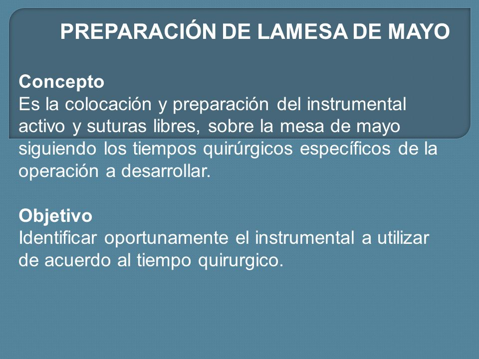 PREPARACIÓN DE LAMESA DE MAYO