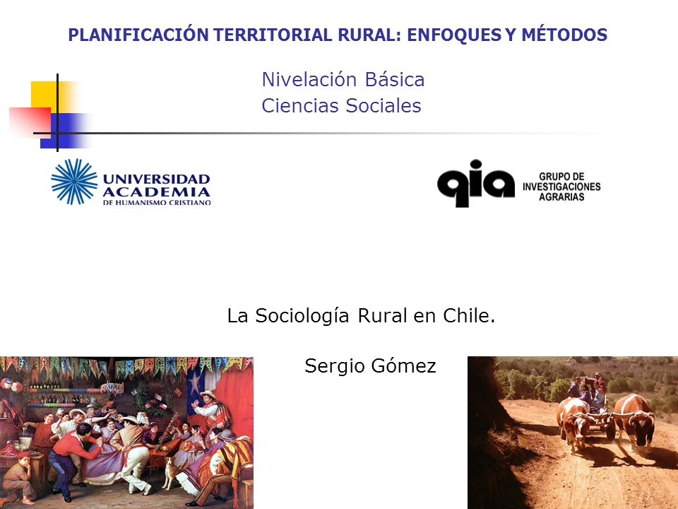 La Sociología Rural en Chile. Sergio Gómez