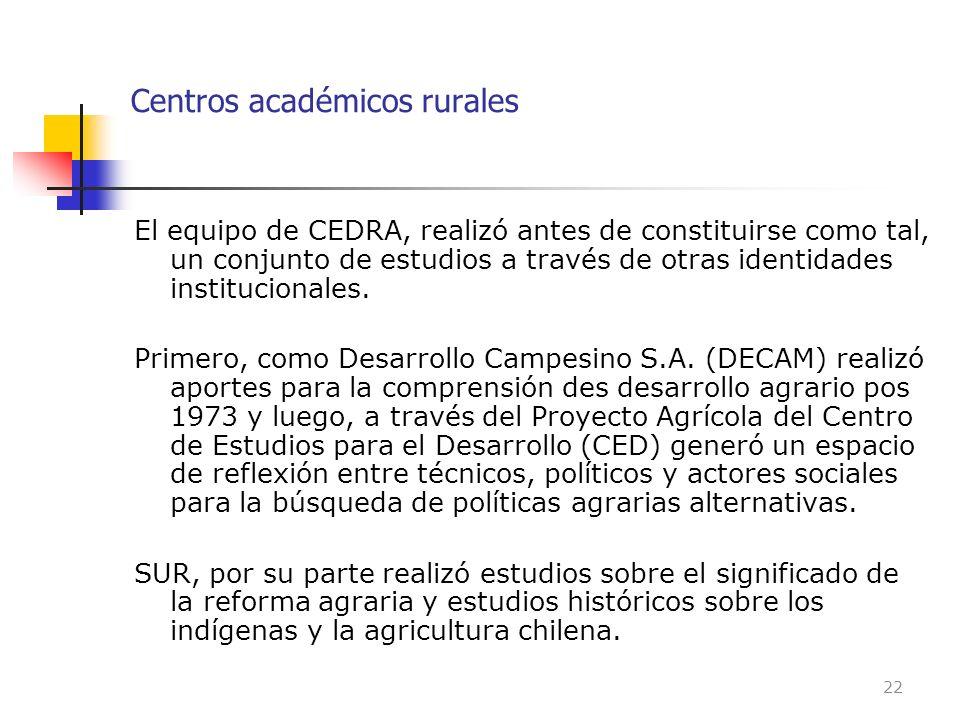 Centros académicos rurales