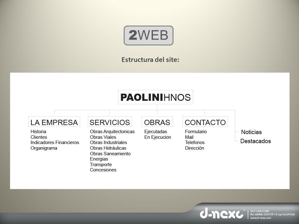 2WEB Estructura del site: