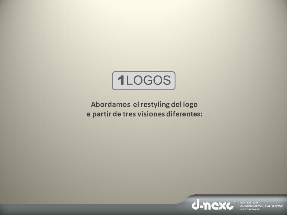 Abordamos el restyling del logo a partir de tres visiones diferentes: