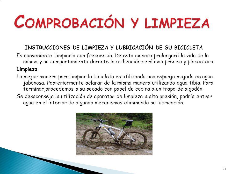 COMPROBACIÓN Y LIMPIEZA