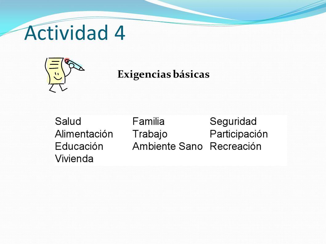 Actividad 4 Exigencias básicas