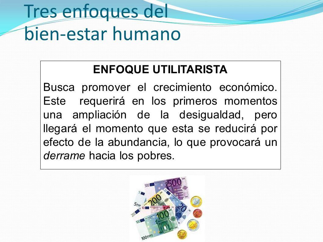 Tres enfoques del bien-estar humano