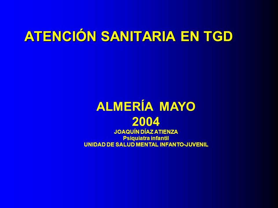 ATENCIÓN SANITARIA EN TGD