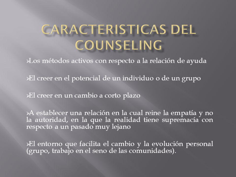 CARACTERISTICAS DEL COUNSELING