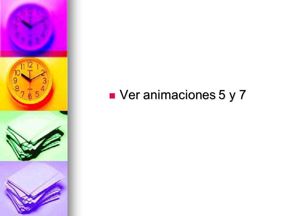 Ver animaciones 5 y 7