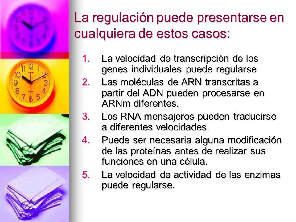 La regulación puede presentarse en cualquiera de estos casos: