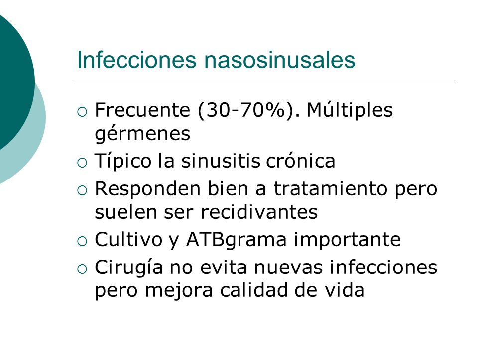 Infecciones nasosinusales