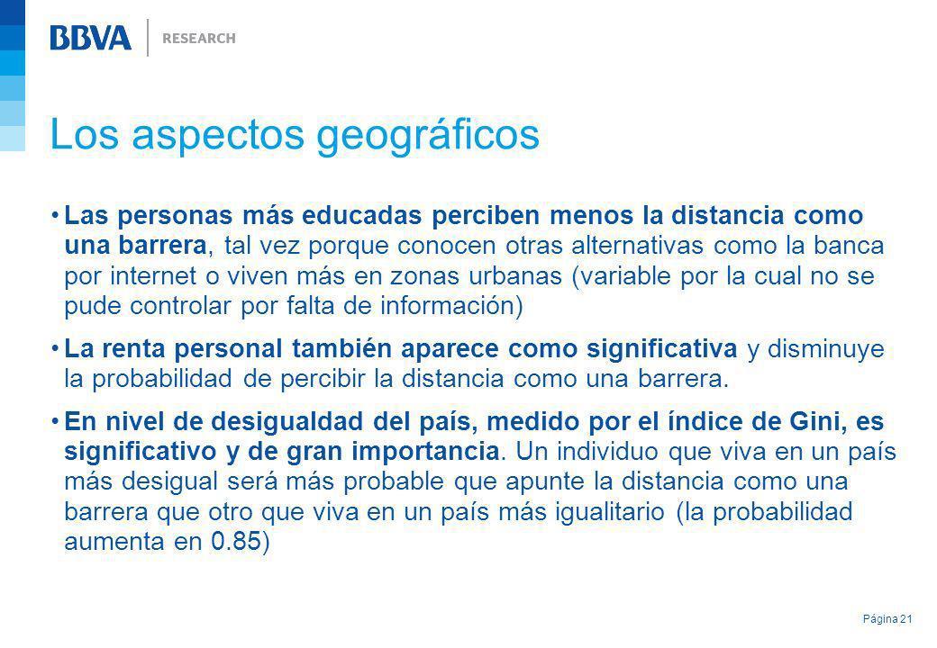 Los aspectos geográficos