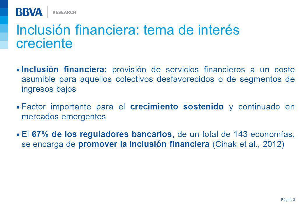 Inclusión financiera: tema de interés creciente