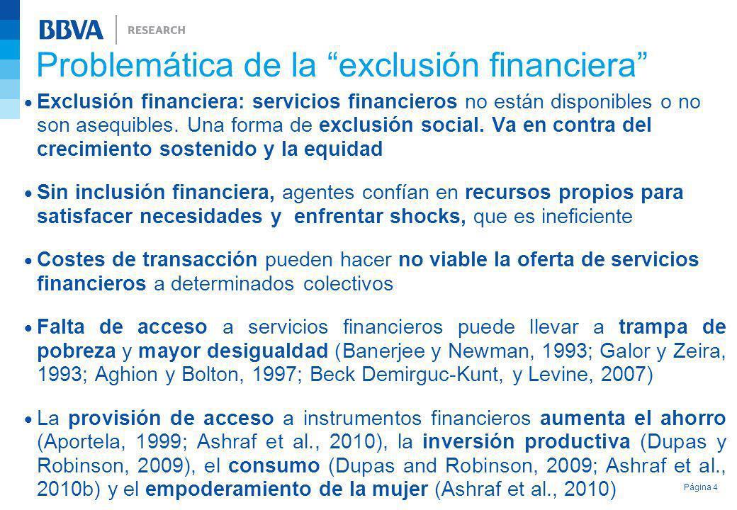 Problemática de la exclusión financiera