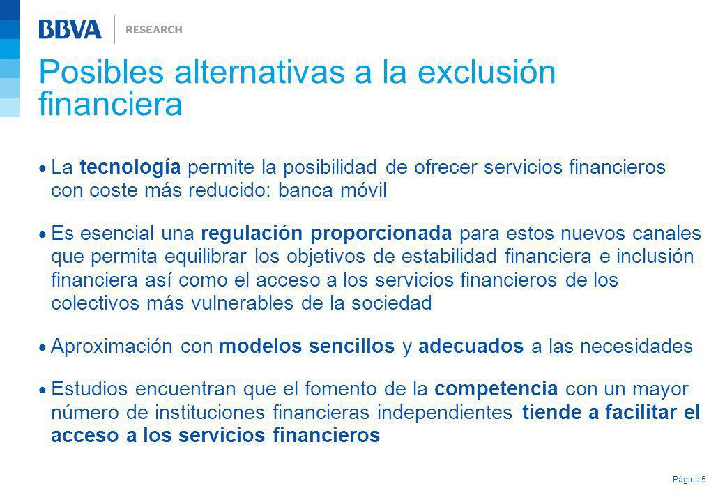 Posibles alternativas a la exclusión financiera