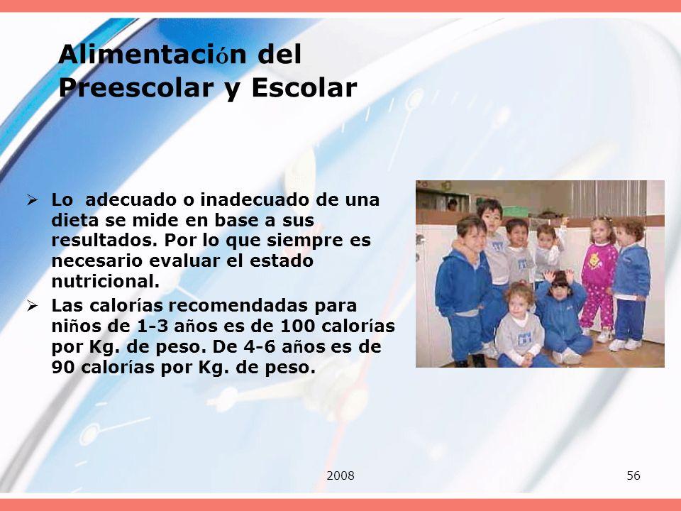 Alimentación del Preescolar y Escolar
