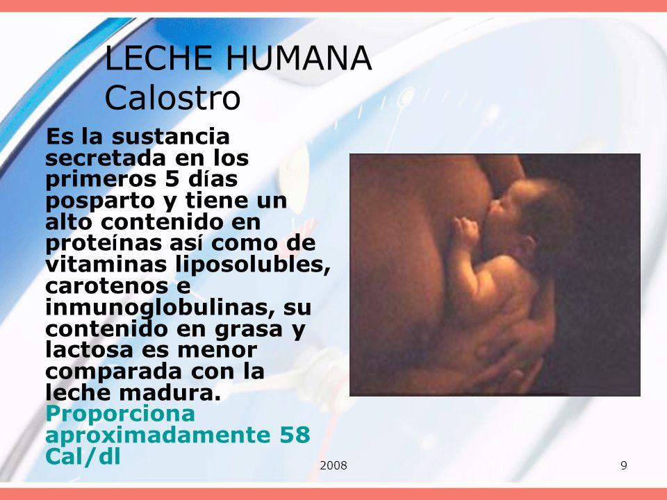 LECHE HUMANA Calostro