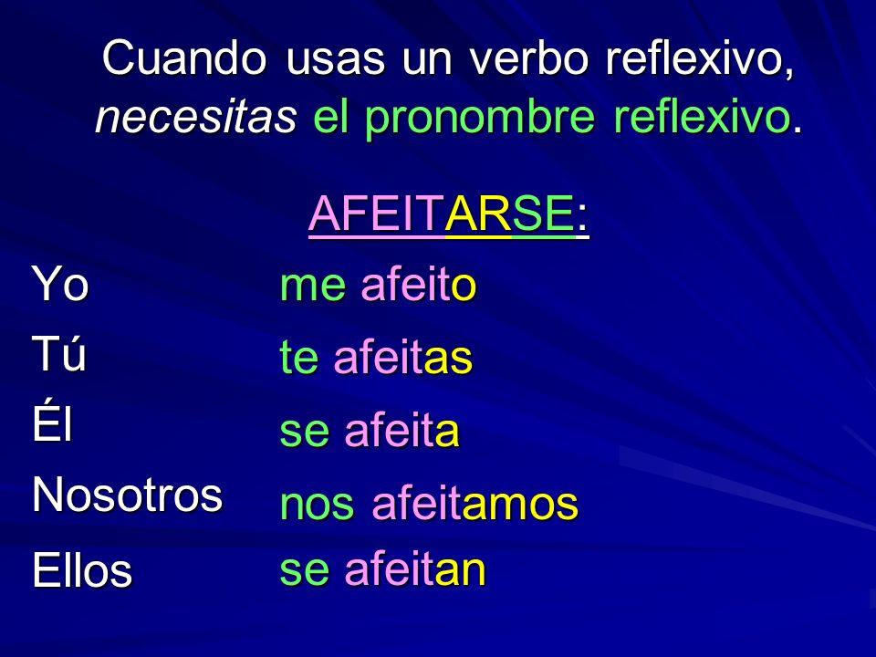 Cuando usas un verbo reflexivo, necesitas el pronombre reflexivo.