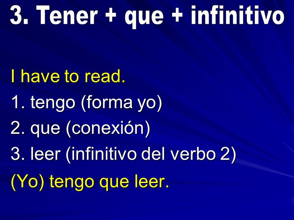 3. Tener + que + infinitivo