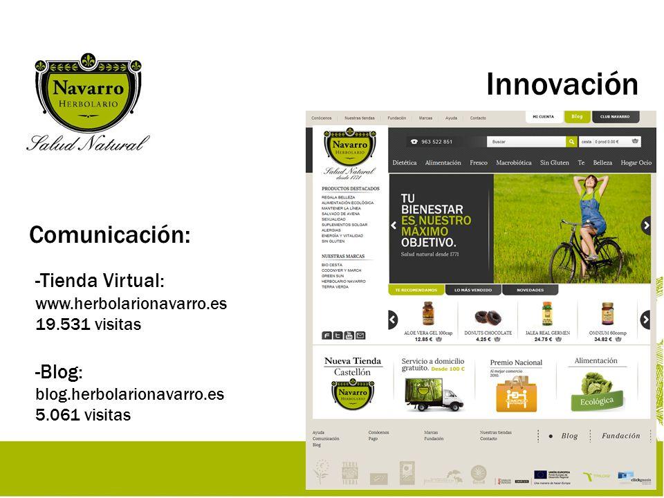 Innovación Comunicación: Tienda Virtual: www.herbolarionavarro.es