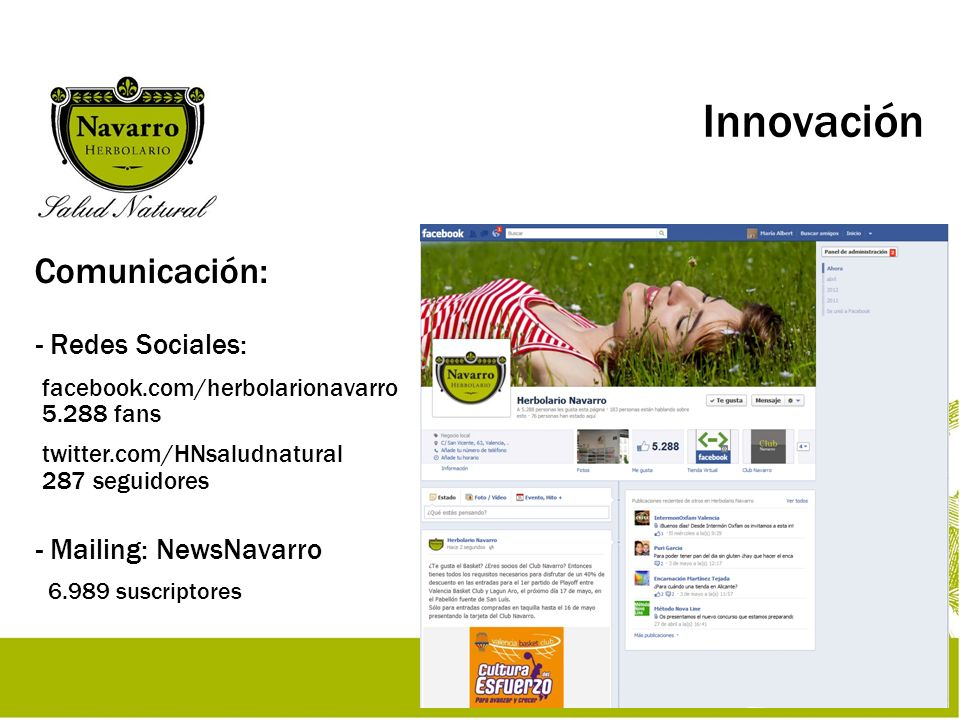 Innovación Comunicación: Redes Sociales: Mailing: NewsNavarro