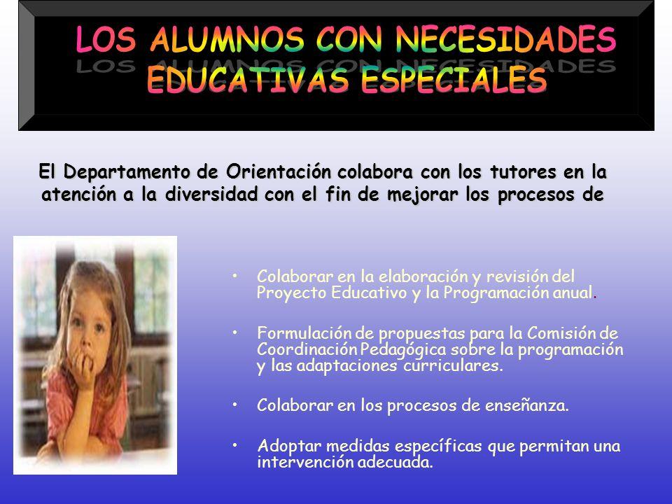 LOS ALUMNOS CON NECESIDADES EDUCATIVAS ESPECIALES