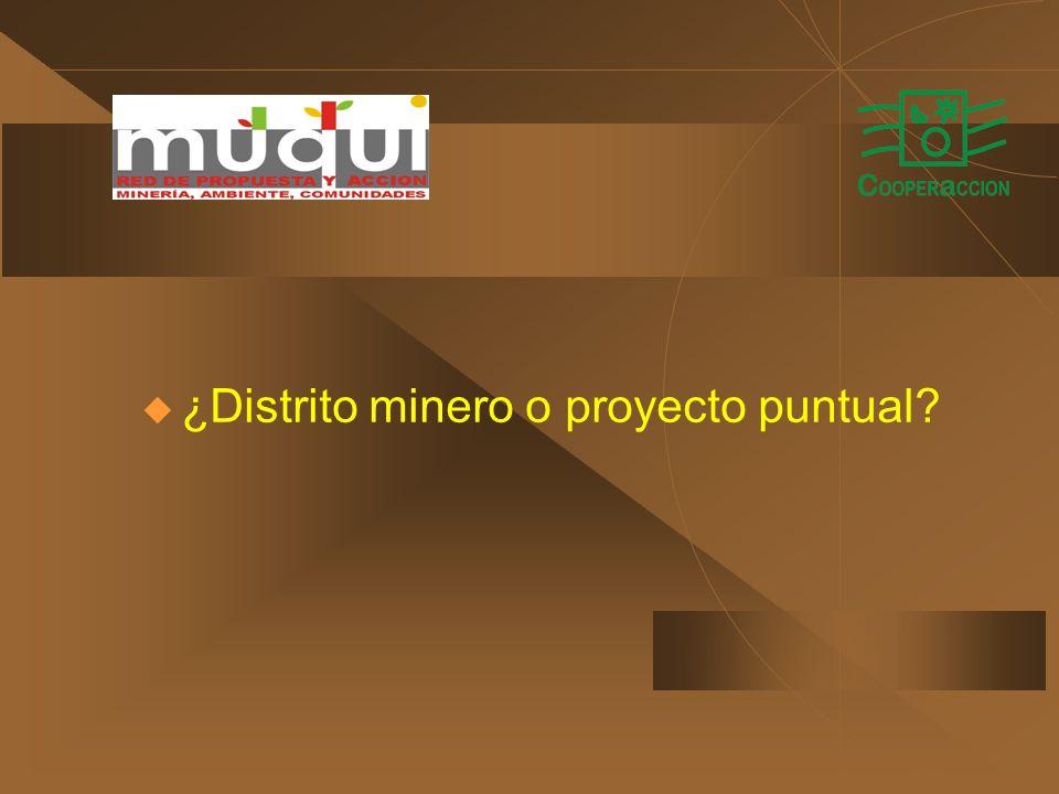 ¿Distrito minero o proyecto puntual