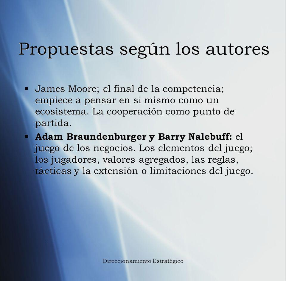 Propuestas según los autores