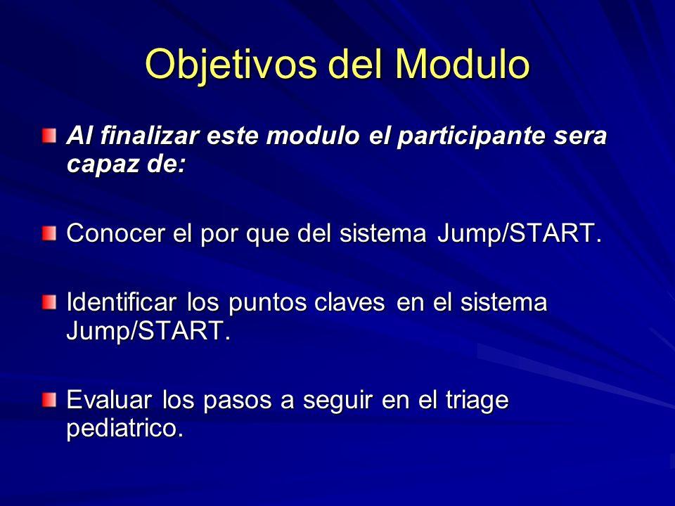 Objetivos del Modulo Al finalizar este modulo el participante sera capaz de: Conocer el por que del sistema Jump/START.