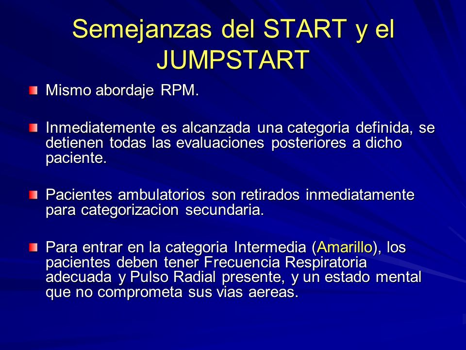 Semejanzas del START y el JUMPSTART